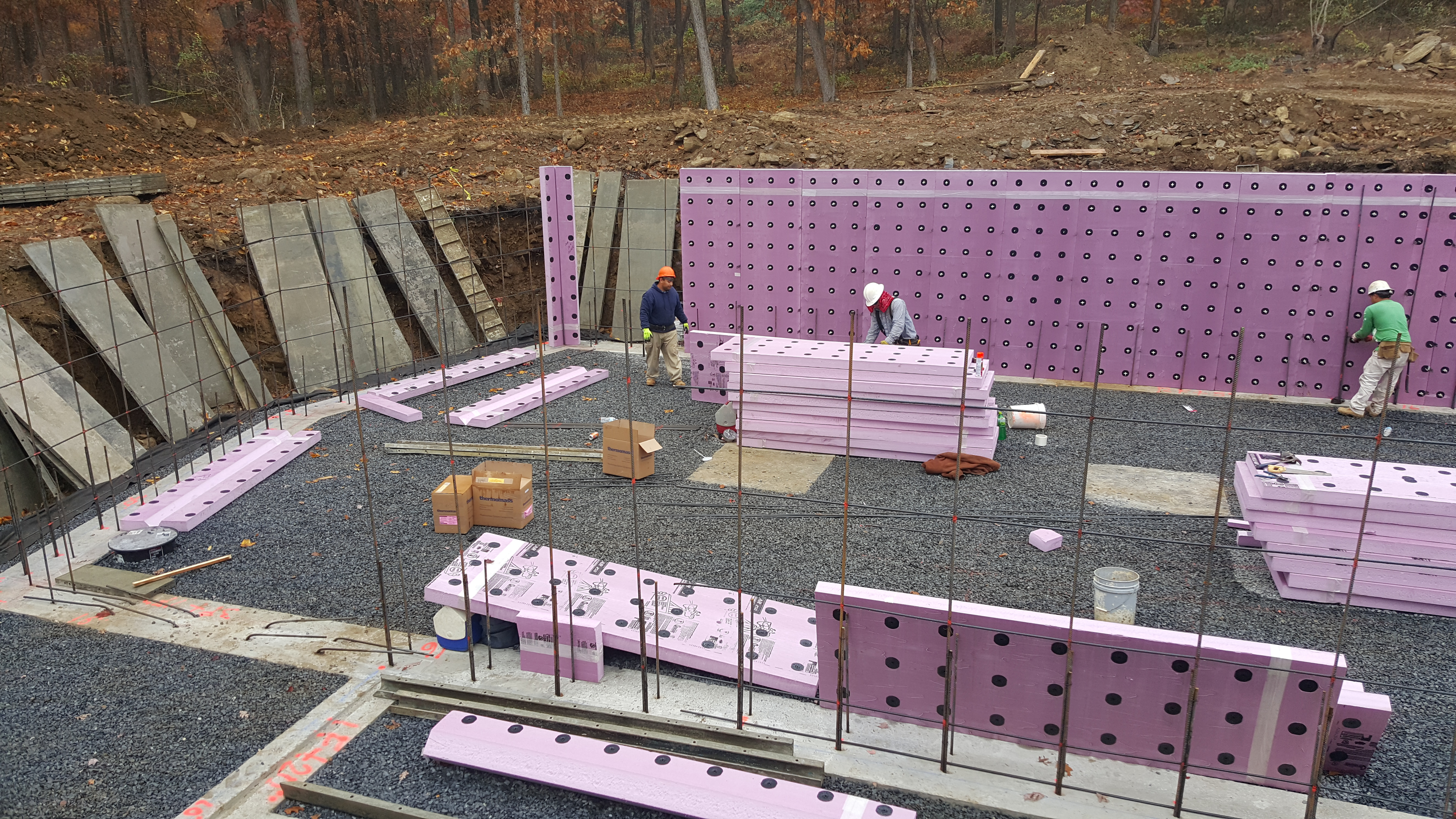 The foundation our net zero house for Best temperature to pour concrete foundation