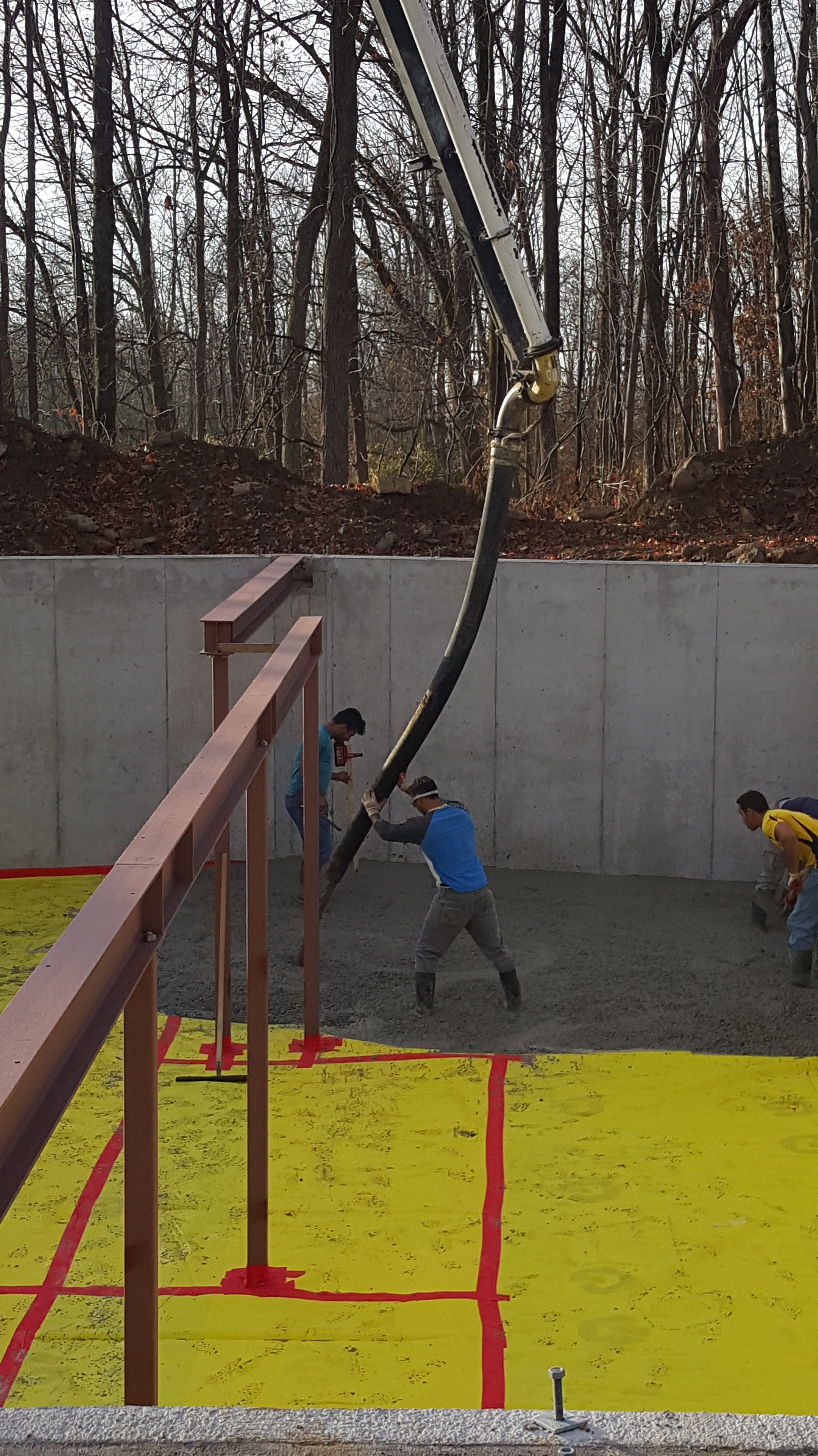 Pouring floor our net zero house for Pour a floor