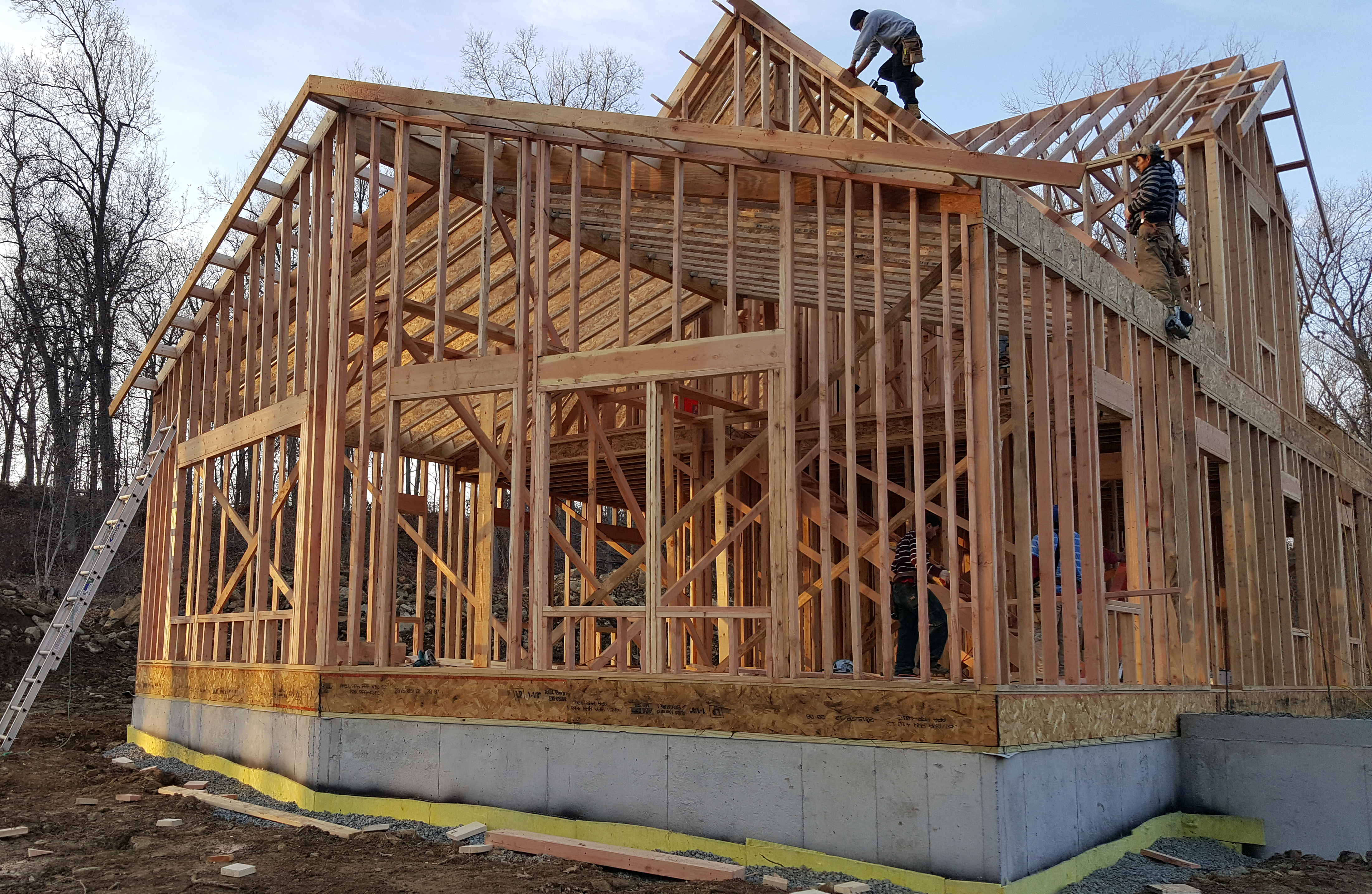 framing our net zero house